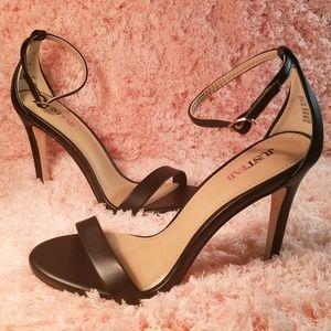 Black Ankle-strap Heels Size 5.5
